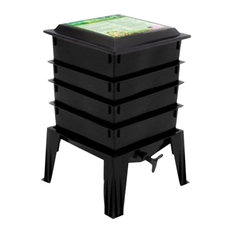 Natures FootPrint WF360BW Worm Factory 360 4-Tray With Worms, Black