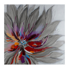 """Floral"" By Tina O. Painting on Wrapped Canvas"