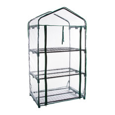 Pure Garden 3 Tier Mini Greenhouse with 3 Shelves 27.5x19x50 inches