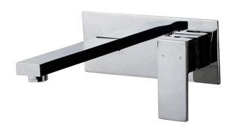 Kubos Wall Plate Mixer - Chrome