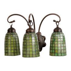 "Meyda Lighting 18""W Terra Verde 3 Light Vanity Light, Mahogany Bronze"