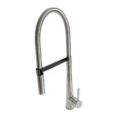 Solid Stainless Steel Luxury Gourmet Spring Coil Kitchen Faucet with Metal Spray