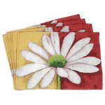 Tache Home Fashion - Tache 4 Piece Spring Decorative Loves Me Not Placemat Set - Finish off your spring cleaning with this beautiful floral place mat. Bring the warmth of the coming month into your home. Spring has sprug!