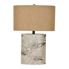 Birch Wood 1 Light Table Lamp in Birch Wood