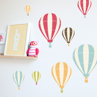 Best Contemporary Wall Decals by Orchard Orchard Hot Air Balloon