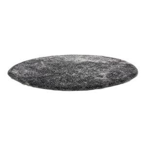 Diamond Shag Rug, Grey White, 160 cm Round