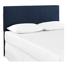 Oliver Queen Upholstered Fabric Headboard, Navy