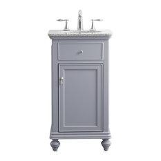 19-inch Single Bathroom Vanity Set Light Gray
