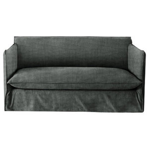 Sophie Sofa Bed, Pewter, 1.5 Seater, 113x186 cm