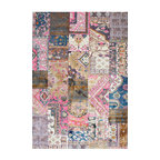 Nuloom Abstract Vintage Style Fancy Rug Contemporary