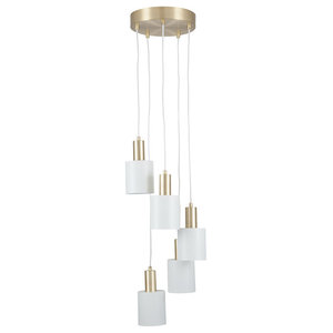 Biba 5-Light Ceiling Light, Brass