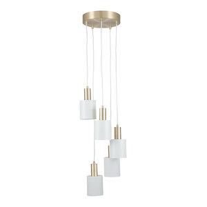 Biba 5-Light Ceiling Light, Brass