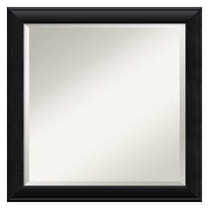 Wall Mirror Square, Nero Black, Outer Size 23