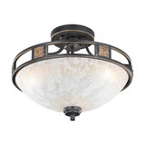 Country Round Ceiling Lamp 42 Rust - Quinta