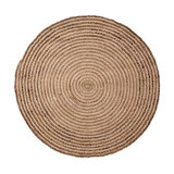 Round Natural Braided Rug, Small
