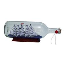 "Glass Ship In A Bottle, 13""x5"""