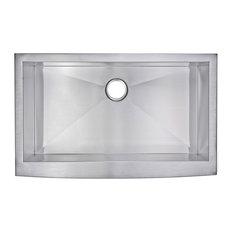 """36"""" X 22"""" Zero Radius Single Bowl Stainless Steel Apron Front Kitchen Sink"""