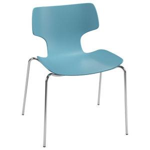 Bone Blue 4-Legged Chair
