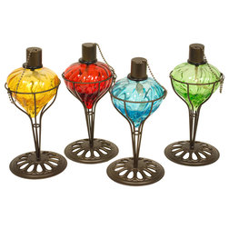 Mediterranean Outdoor Torches by Home Garden Collections