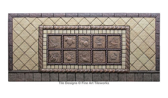 Fine Art Tileworks custom handmade tile layout
