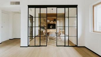 Crittall style sliding doors