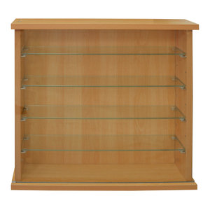 Collectors Display Cabinet With 4 Glass Shelves, Oak
