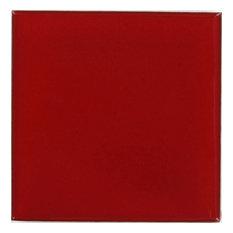 """Tierra y Fuego Handmade Ceramic Tile, 4.25x4.25"""" Red, Box of 45"""