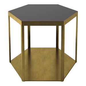Marioni Mel Coffee Table Black Glass