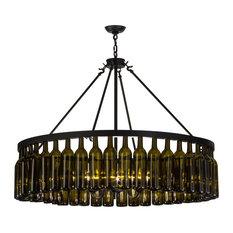 "Meyda 48""W Tuscan Vineyard Estate 44 Wine Bottle Chandelier"