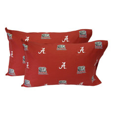Alabama Crimson Tide Pillowcase Pair, King, Solid, Includes 2 King Pillowcases