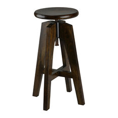 Bare Decor Rorie Adjustable Swivel Counter Stool Solid Wood