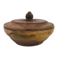 AB Home 6   Urban Garden Mango Wood Lidded Jar