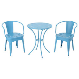 Contemporary Outdoor Pub And Bistro Sets by GDFStudio
