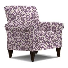 Janet Arm Chair, Amethyst & Cream Medallion