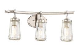 Poleis 3 Light Bathroom Vanity Light in Brushed Nickel
