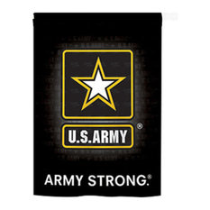 Military U.S. Army 2-Sided Vertical Impression House Flag