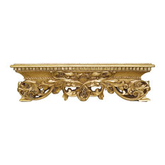 Hickory Manor House Mirrors & More - Open Leaf Bedcrown, Gold Leaf - Bed Accessories