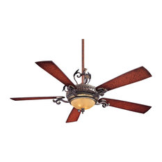 "Minka Aire Napoli Sterling Walnut 56"" Ceiling Fan with Wall Control"