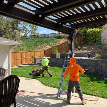 Finishing up a Full Backyard Remodel