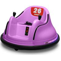 Race #00-99 6V Kids Toy Electric Ride On Bumper Car ASTM-certified, Purple
