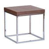 Prairie Lamp Table, Chrome