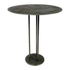 Sheridan Fulton Bar Table, Iron W/ Acid Etched Top