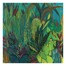 """Cactus Jungle"" Printed Canvas by Shyama Ruffell, 40x40 cm"