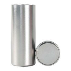 """Titanium Alloy Container Coffee Tin Canister 1.8""""x4.6"""", 01"""