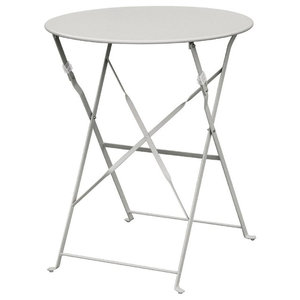Cafe Outdoor Patio Table, Light Grey