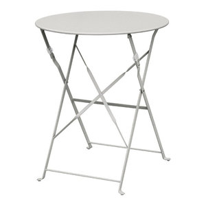 Cafe Outdoor Patio Table, Light Grey