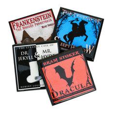 4-Piece Gothic Halloween Coaster Set