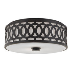 Hudson Valley Genesee 3-Light Large Flush Mount, Old Bronze