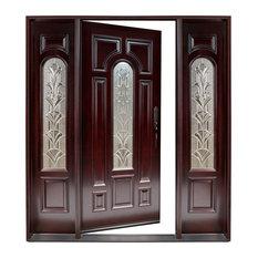 Left Handswinging Front Door With Glass Panel Sidelights