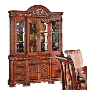 American Drew Cherry Grove Canted China Cabinet ...